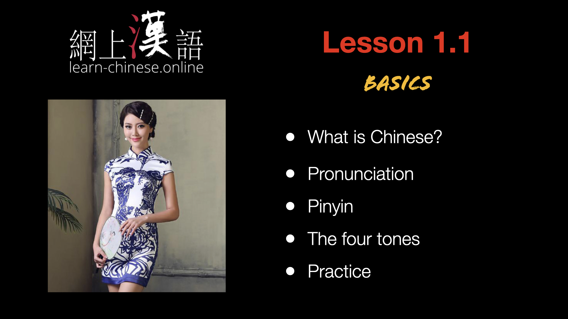 Chinese courses in video